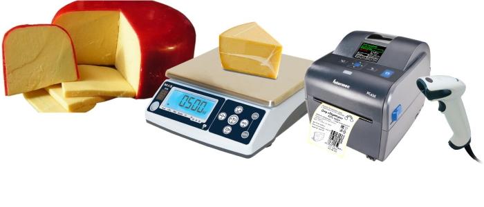 весы-принтер сыр